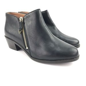 Vionic Womens Joy Jolene Black Ankle Boots Sz 8 W